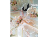 Baptism accessories in peach color